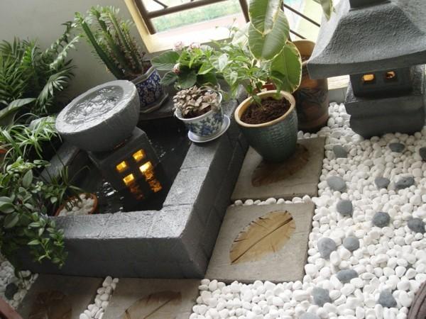 Balkon Garten mit mediterranen elementen