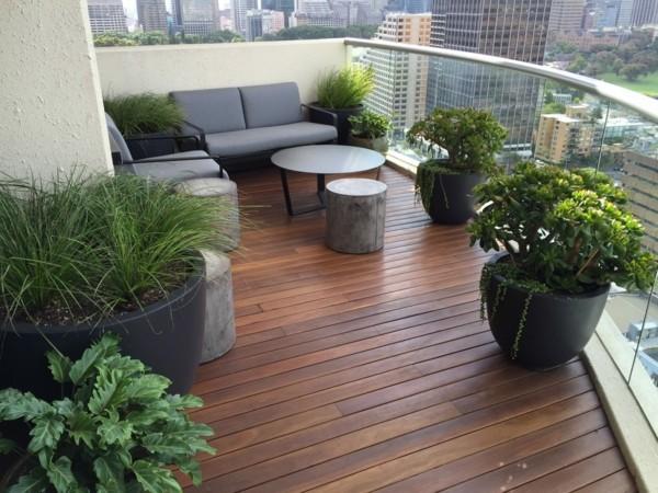 Balkon Garten mit urbanem und städtischen charakter