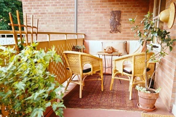 Balkon bepflanzen Gelb und Grün