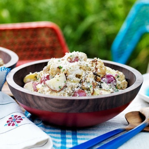 Blumenkohl im Kartoffelsalat