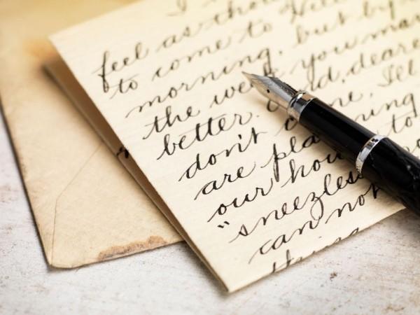 Der Liebe einen langen Brief schreiben Gefühle ausdrücken