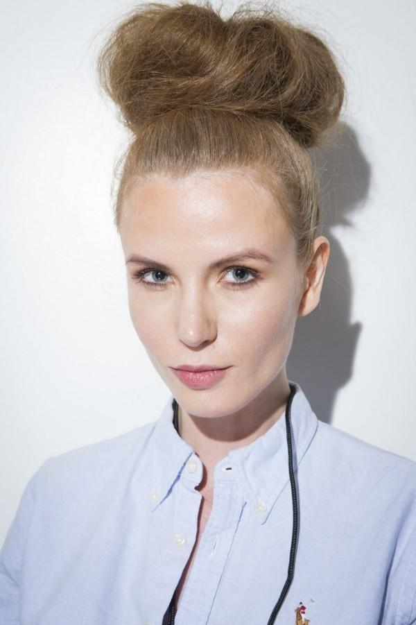 Haarfarben Trends blonder zopf