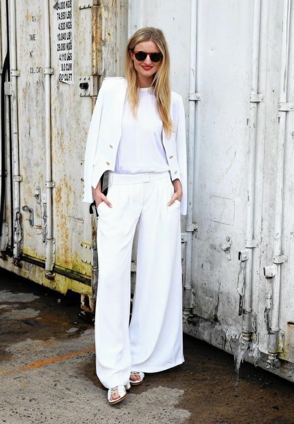 Hochzeitsgast Kleider eleganter weißer anzug