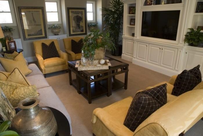 sch ne wohnzimmer in erdfarben fresh ideen f r das. Black Bedroom Furniture Sets. Home Design Ideas