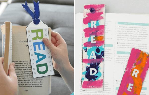 Lesezeichen basteln mit Kindern malen