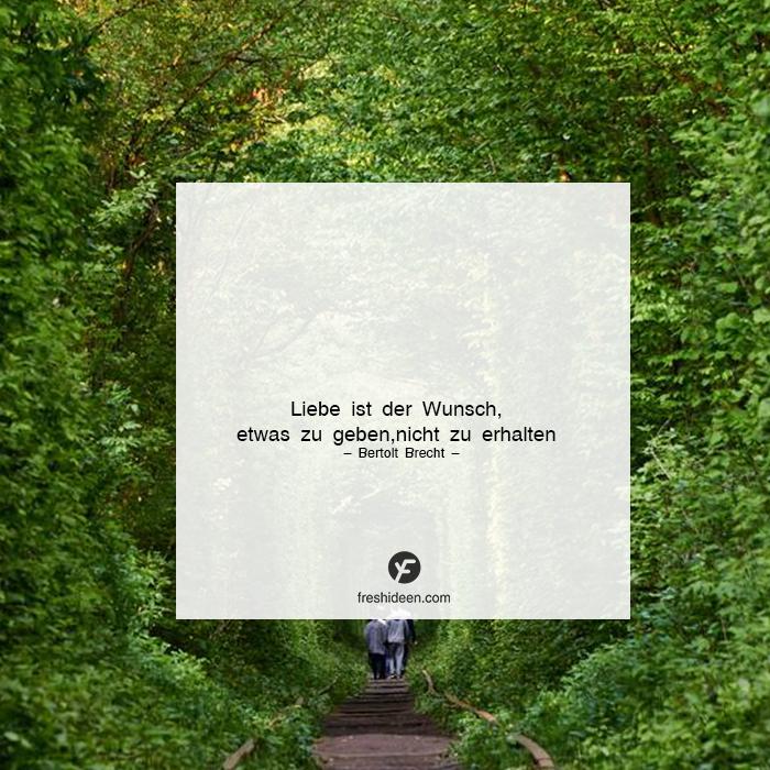Liebe viel geben Liebeszitat Bertolt Brecht
