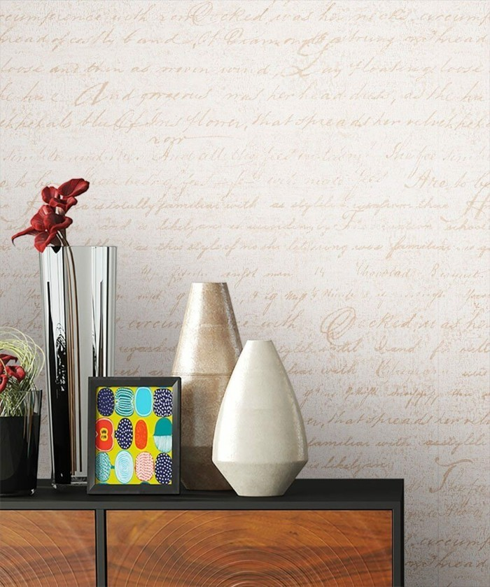 Neutrales Design Ideen für Wandtapeten