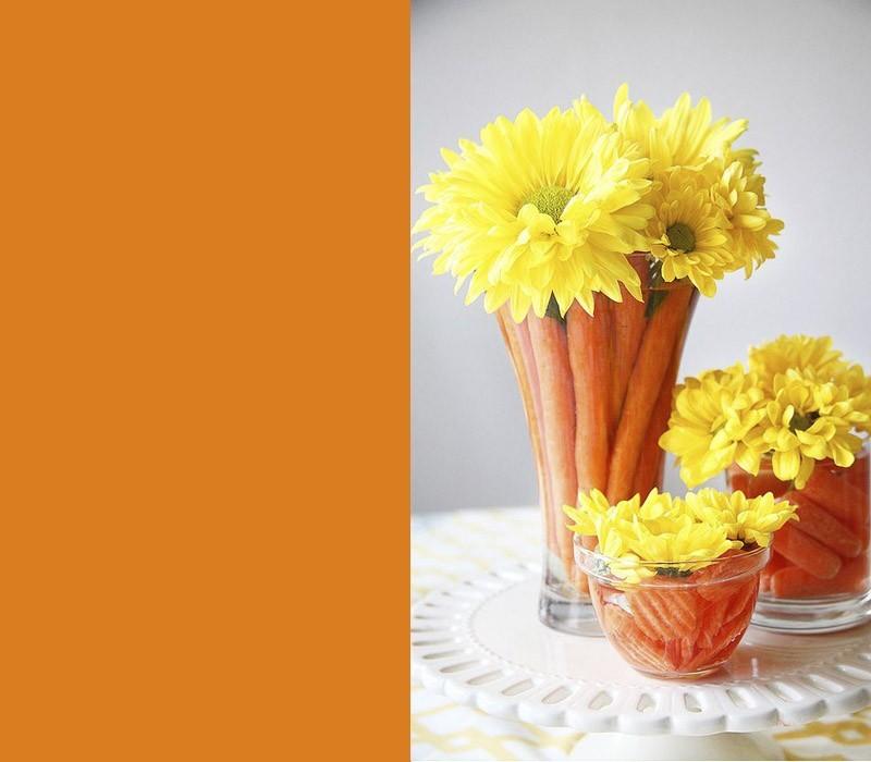 Orange Karotten deko ideen