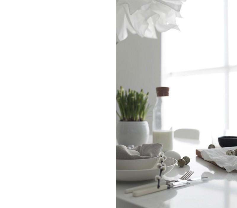 Osterdeko in Weiß für Puristen
