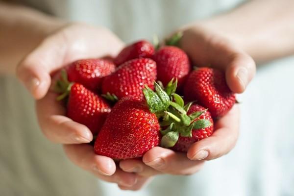 Reife Erdbeeren gesunde Ernährung so zwischen durch essen