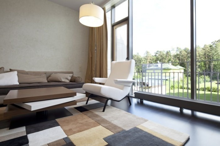 Schöne Aussicht Erdfarben modernes Wohnzimmer