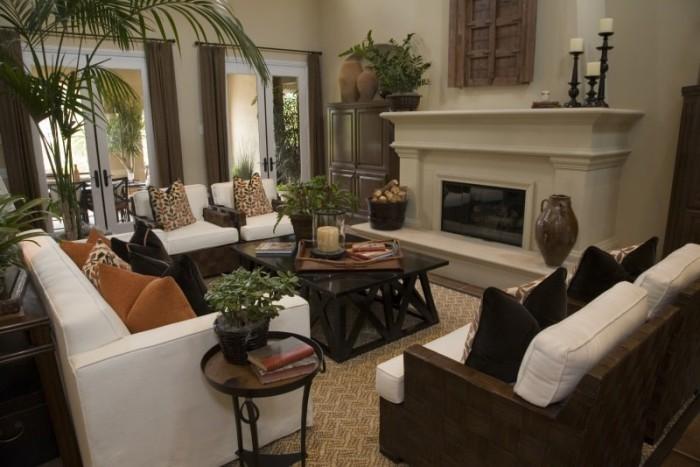 Stilvolles Wohnzimmer Zimmerpflanzen