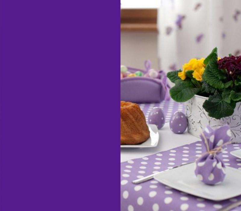 Tischdeko Idee zu Ostern in zartem Lila