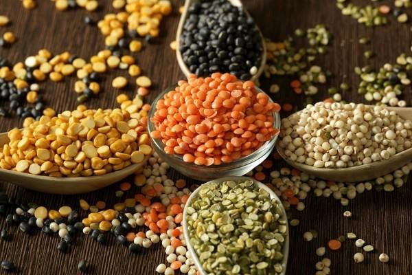 Verschiedene Linsensorten gesunde Ernährung gesundes Essen jeder Familie