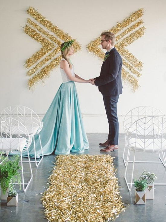 Wandgestaltung Ideen rustikale Hochzeit