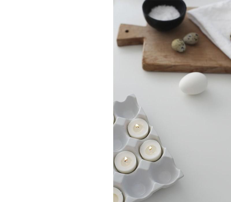 Weiße Eier weiße Kerzen Bedeutung der Farben