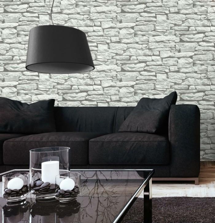 Wohnzimmerdesign Wandtapeten Idee