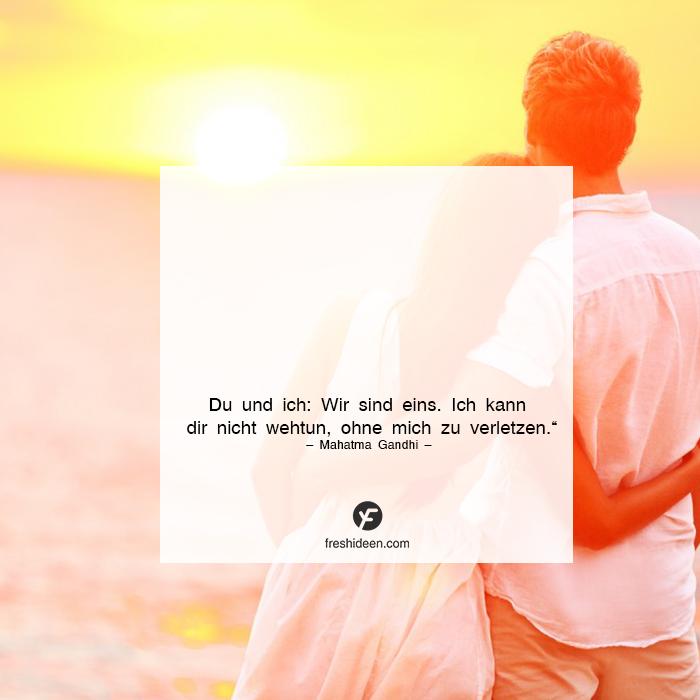 Zuverlässigkeit in der Liebe Liebeszitat Gandhi