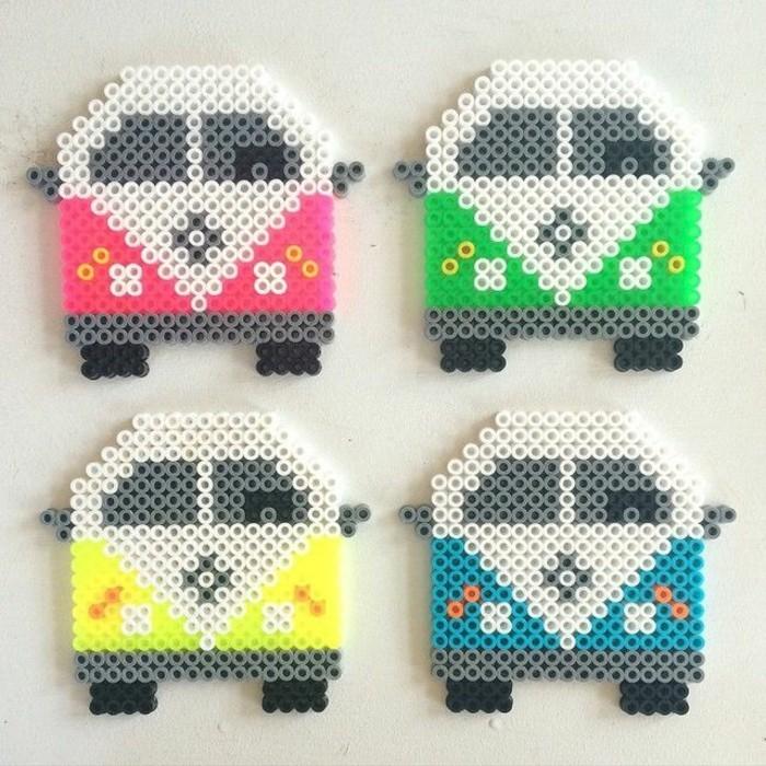 autobus bastelideen basteln mit bügelperlen