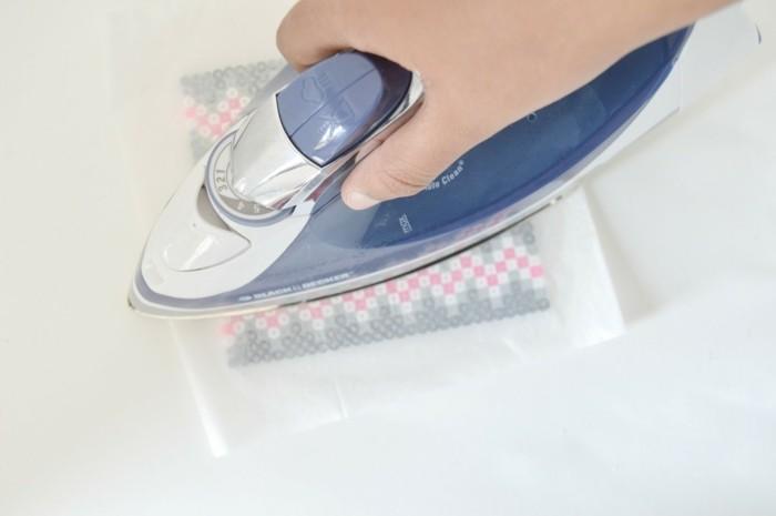 basteln mit bügelperlen untersetzer bügeln bügeleisen