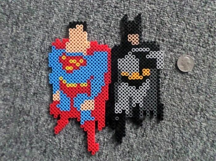 batman superman vorlagen basteln mit bügelperlen