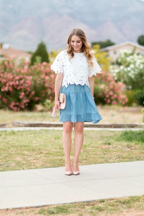 blau weiße pracht Hochzeitsgast Kleider