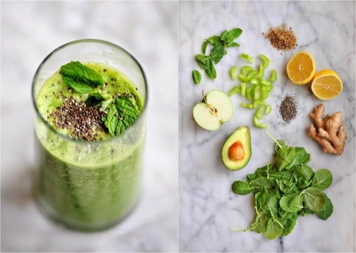 chia samen grüne smoothies gesund tipps zum abnehmen