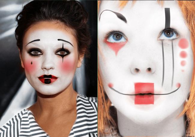 clown schminken fasching karneval make up