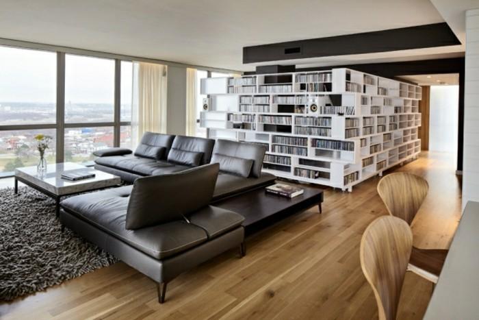 designer sofa als zentralstück in schwarz