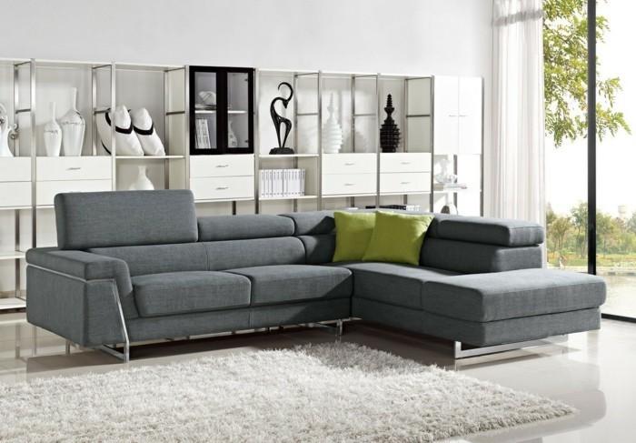 designer sofa ansprechende graue farbe