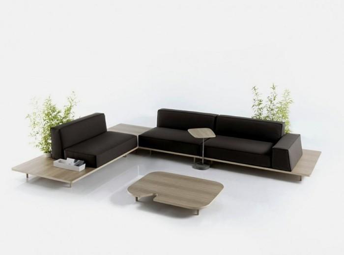designer sofa dunkelbeige und weiß