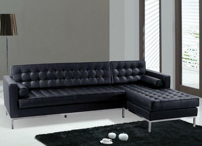 designer sofa dunkelschwarz