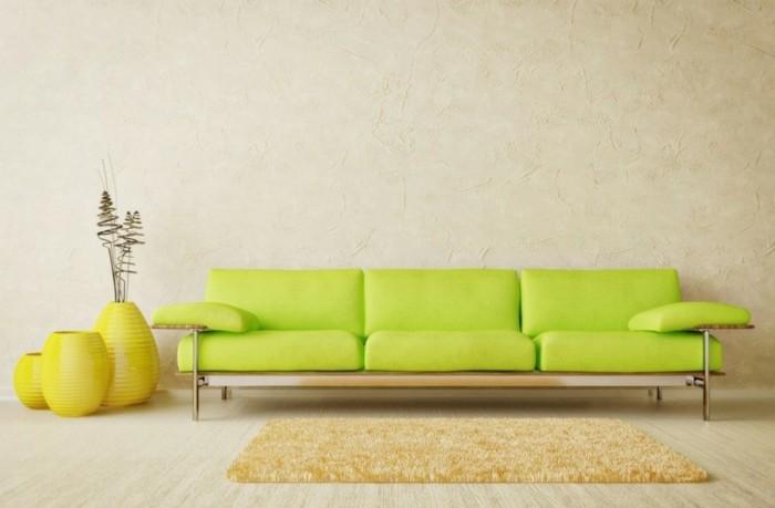 designer sofa gelbes sofa