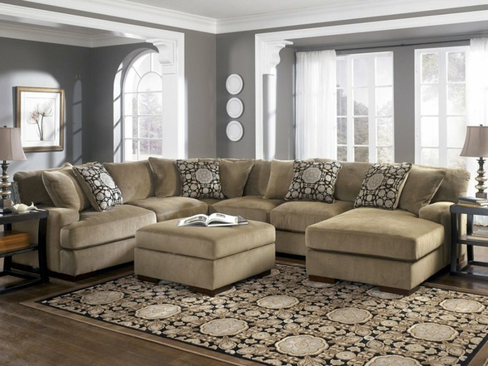 designer sofa hell beige