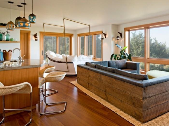 designer sofa ideen in weiß und braun
