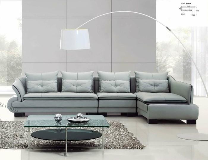 designer sofa im tollen hellblau