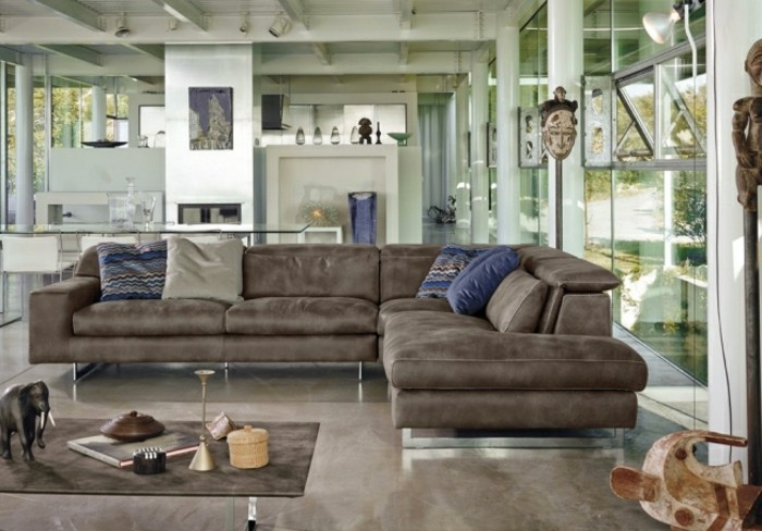 designer sofa inspiration in braun