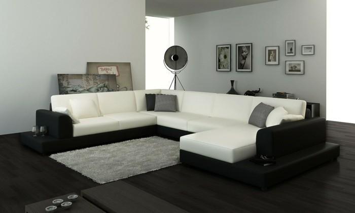 designer sofa monochromes design in zwei schattierungen