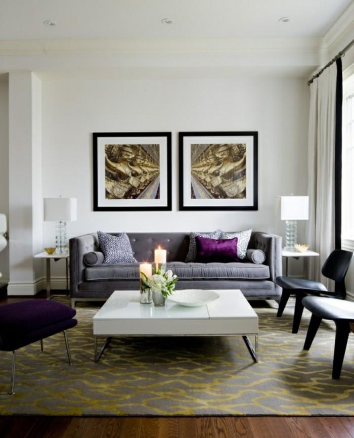 designer sofa tolle lila farbe