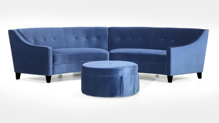 designer sofa tolles blau