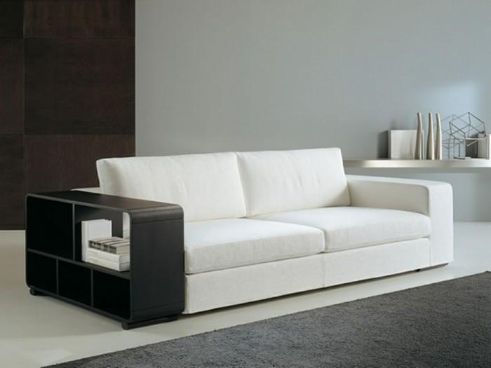 designer sofa weiß mit einem schwarzen akzent