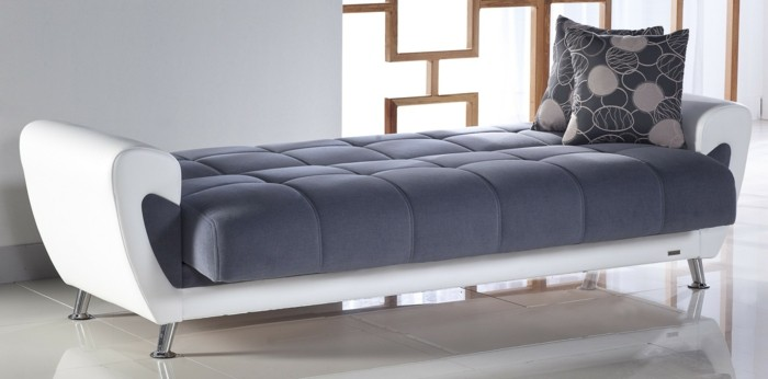designer sofa weiß und grau idee