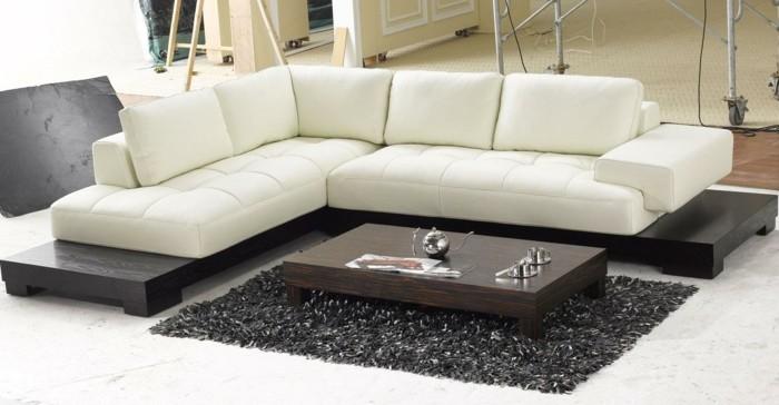 designer sofa weißes zentralstück