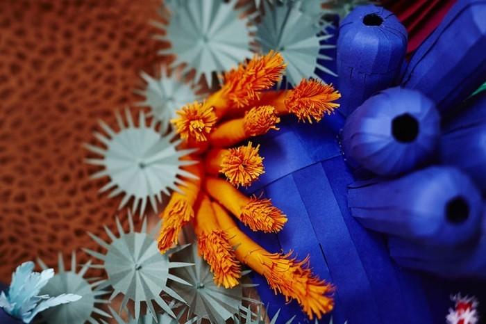 diy ideen deko Mlle Hipolyte korallen orange blau hellgrün