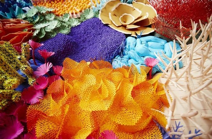 diy ideen deko Mlle Hipolyte kreativ korallen details papier