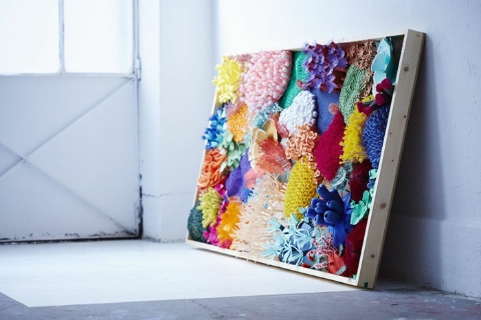 diy ideen deko Mlle Hipolyte wanddeko korallen papier