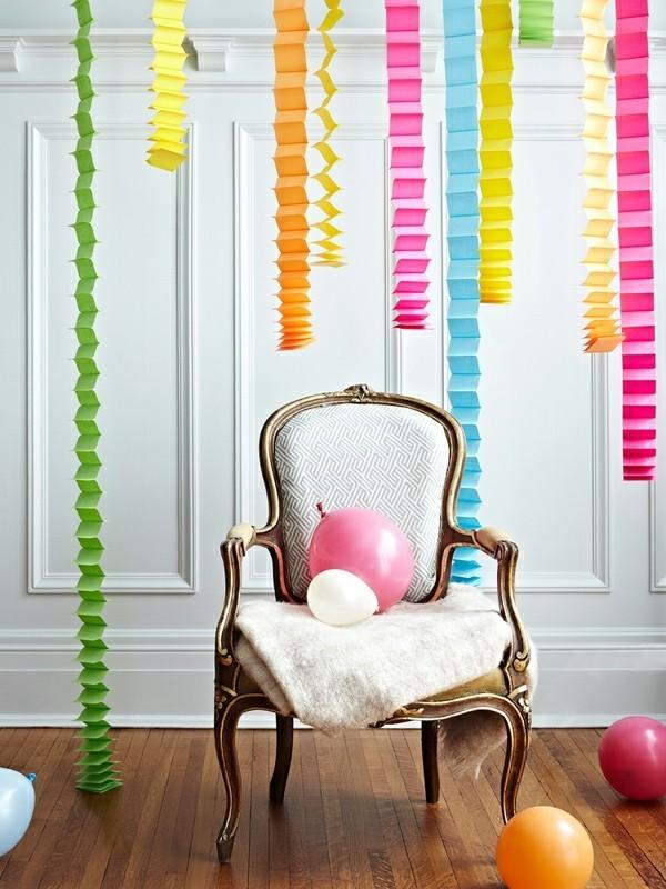 diy ideen deko ausgefallene hängedeko papier