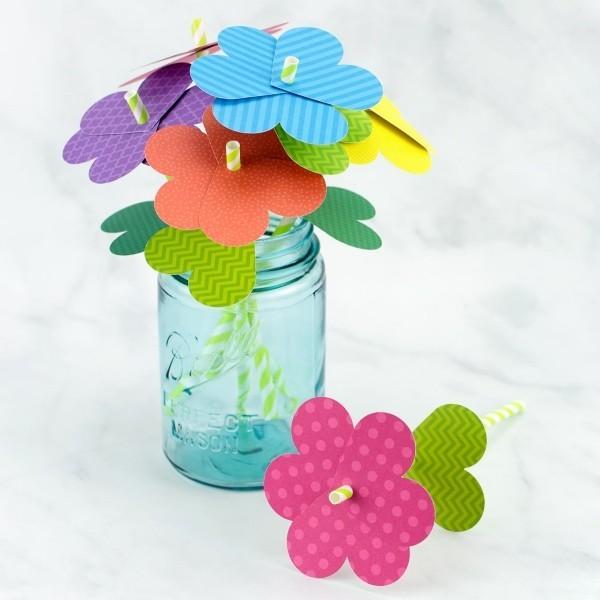 diy ideen deko blumenstrauß papierblumen