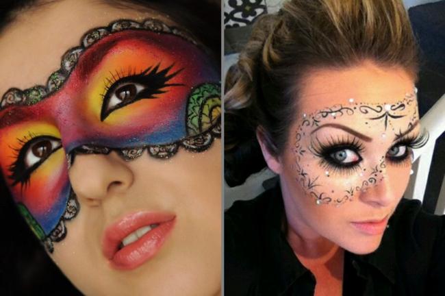 domino maske schinken fasching ideen karneval