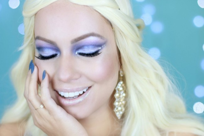 eiskönigin make up karneval schminken fasching